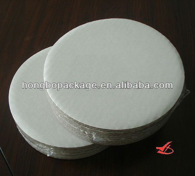 "10"" Corrugated Grease Proof White Cake Circle 250/CS"