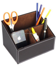 Home & office ,hotel Faux Leather desk organiser ,desktop remote control holder in daily needs