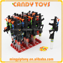 Black plastic heavy machine gun toy candy, press candy with toy