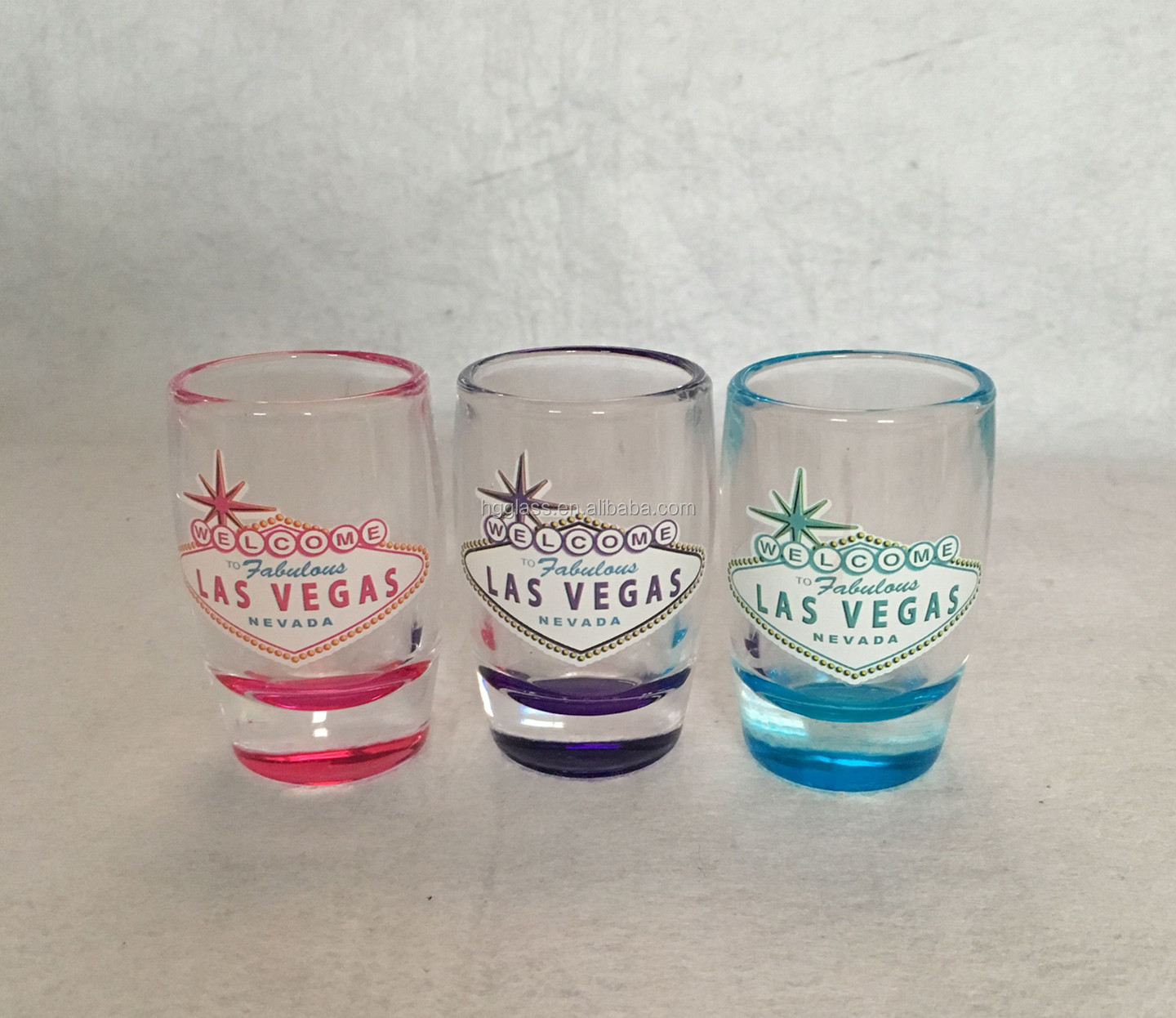 mini shot glass with full wrap printing, souvenir shot glass in straight shape
