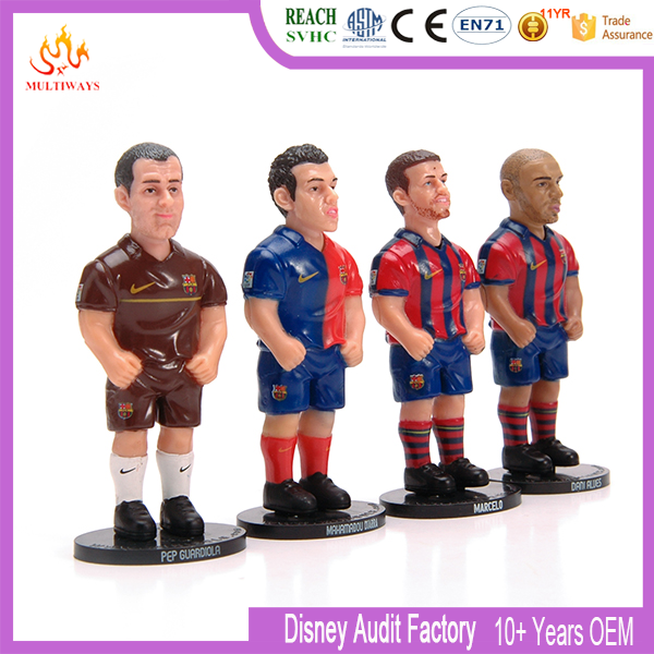 OEM miniature plastic soccer player figures