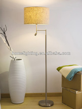 MF-6030 industrial led night stand floor lighting lamp with fabric shade