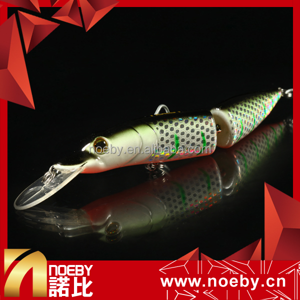 NOEBY 120mm 15.5g hard plastic minnow jointed lure