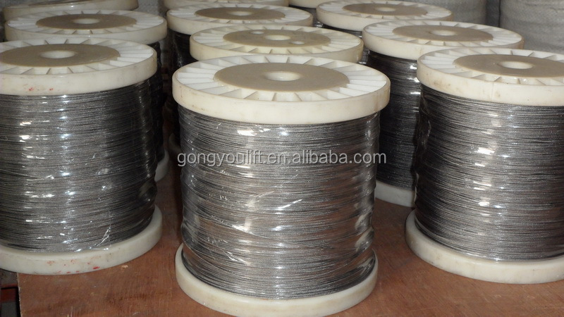 Hot sale 6*7 wire rope, PVC coated steel cable ,galvanized steel wire rope