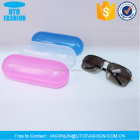 YT8010 chubby French baguette shaped hard plastic sunglasses case