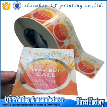 customized logo printing self-adhesive label stickers,full color transparent stickers,top quality clear stickers label