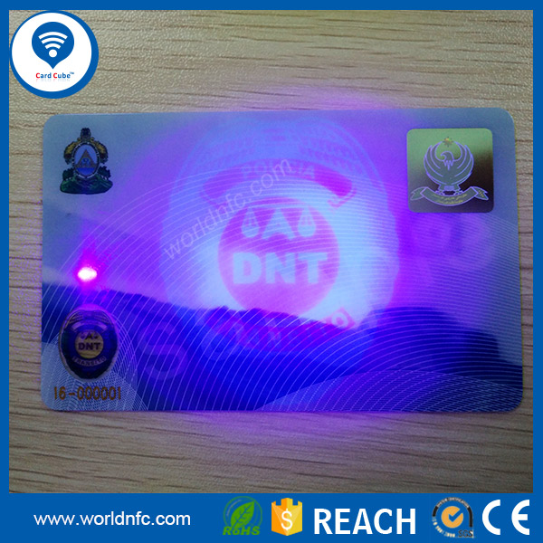 UV Invisible Ink ID Cards and Driving Licenses Cards with ID Hologram Overlay