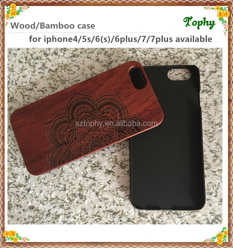 Red sandalwood hand carving housing wooden Phone case for iPhone 6
