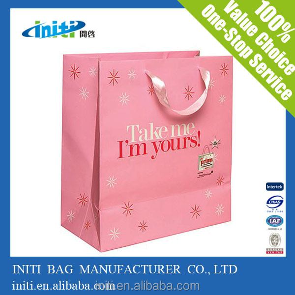 2015 New Products Custom/Wholesale Recyclable high-quality good-looking paper gift bag