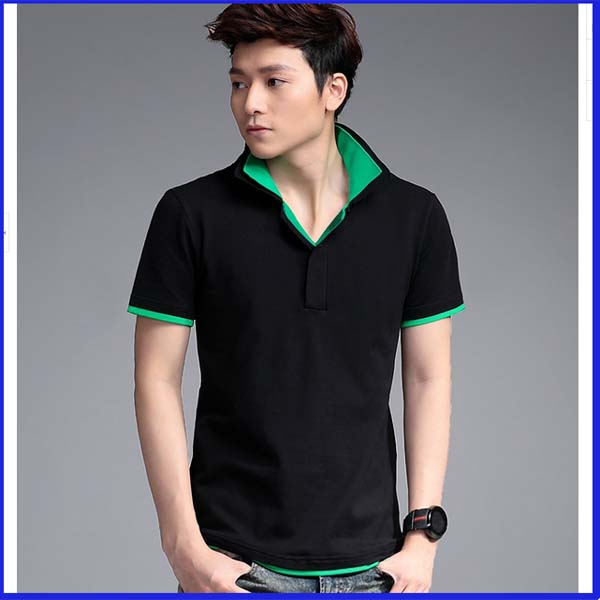 New Design Fashion Color Combination Polo T Shirts For Men Double ...