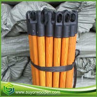 good price wood broom handle with PVC coated with pvc cover