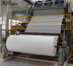 Waste paper recycling tissue and toilet paper making machine in korea