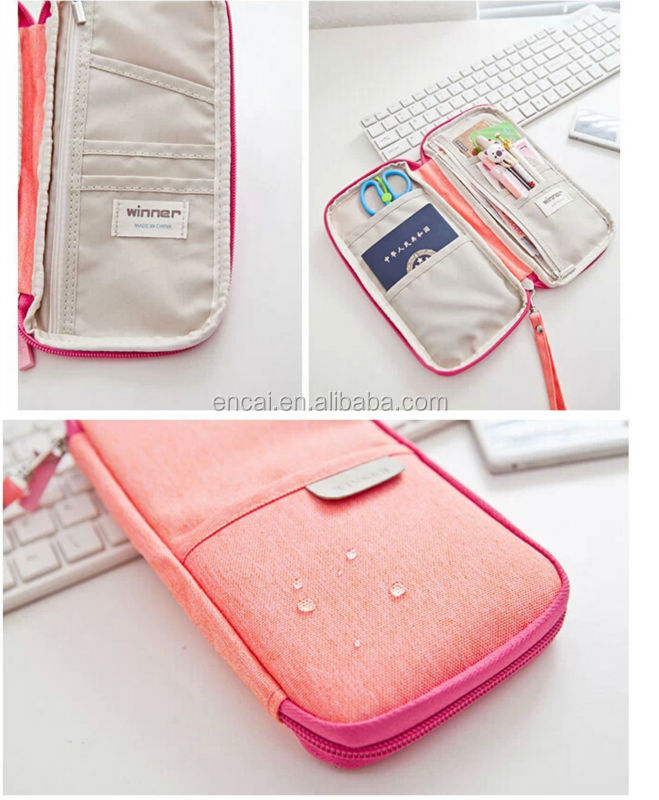 Encai Travel Passport Bag Organizer Colourful Passport Wallet