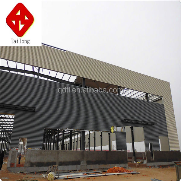 Corrugated Steel Workshop Factory Steel Space Truss Structure