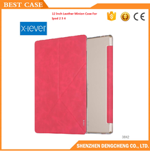 x-level brand 12 Inch Leather Case For Ipad 2 3 4