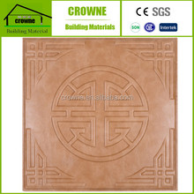 Indoor Soundproof soft package wall paper board 3D Leather Wall Panels Warm Wall Face Decor Wooden Color