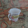 Custom print cheap disposable paper coffee cup with handle