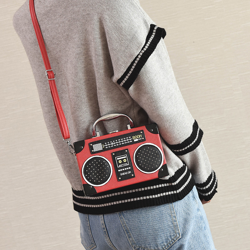 Radio Pattern Kids Shoulder Bag Mini Fashion Latest Design Casual Handbag