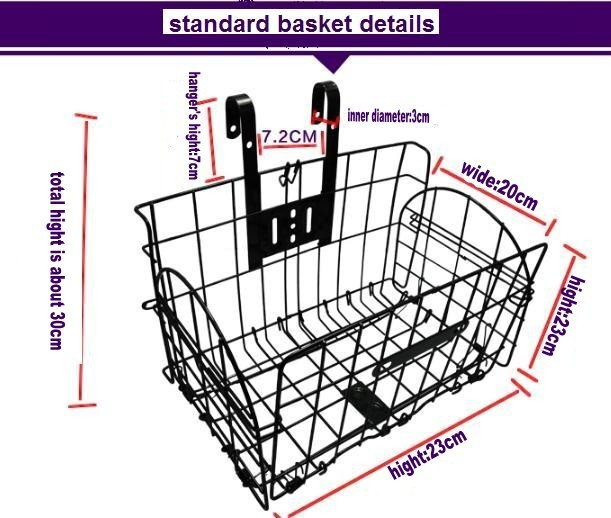 wholesale cheap factory foldable basket for bicycle/removable bicycle basket/folding basket
