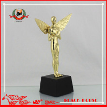 hongkong prize with custom design angel metal trophy