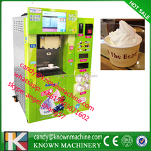 Automatic Soft Ice Cream Vending Machine / vending for ice cream