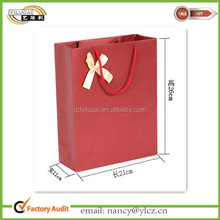 China Supplier custom wholesale paper wine bottle carrying gift bag