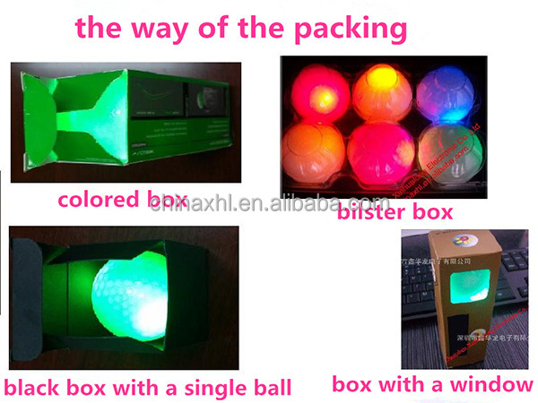 flashing high quality led golf ball