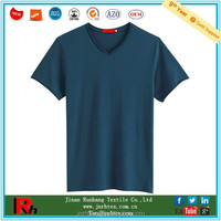 Free samples fast delivery wholesale men's v neck cotton blank stock t-shirt