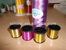 Silver lurex knitting yarn