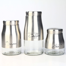 Eco friendly fashion decorative commercial coffee canisters