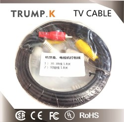 3 rca to 3 rca cable coaxial cable for TV CCTV CABLE