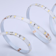 DC24V 120-degree Beam Angle 60leds/m Warm White lightbar 2835 Series IP65 epoxy flexible LED Strip with CE FCC ROHS