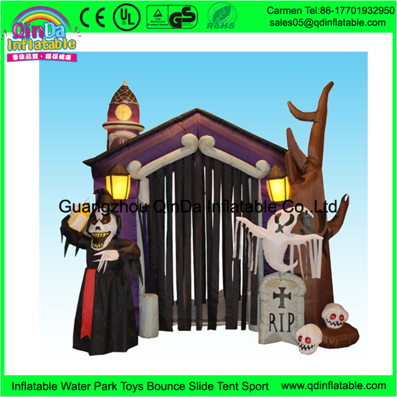 Guangzhou manufacturer suppliers halloween <strong>inflatables</strong> for kids playing game <strong>inflatable</strong> haunted house