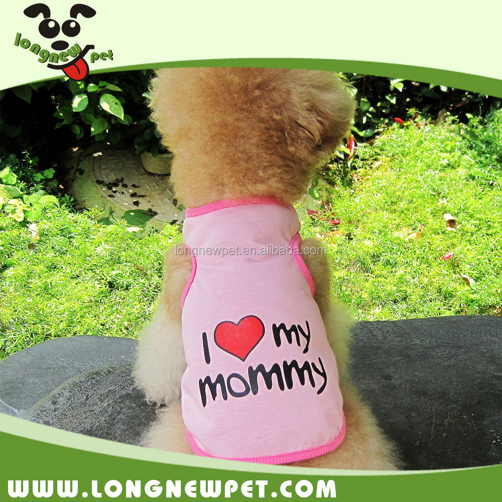 Hot I love My Mommy and Daddy Puppy Vest Cheap Summer Dog Clothes