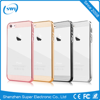 Comma Brand 360 Degree Full Protective Design Electroplating Clear PC Back Cover Case for iPhone 6/6s Plus