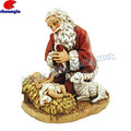 Poly Resin Christmas Gift Items The Kneeling Santa Figure