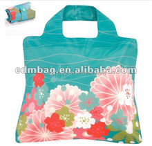 Reycle foldable polyester shopping bag good for promational and advertising