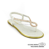 china wholesale flat slingback elastic comfort pu flip flop women sandals