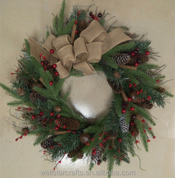 2016 popular festival Christmas haw wreath first hand factory supplier from China