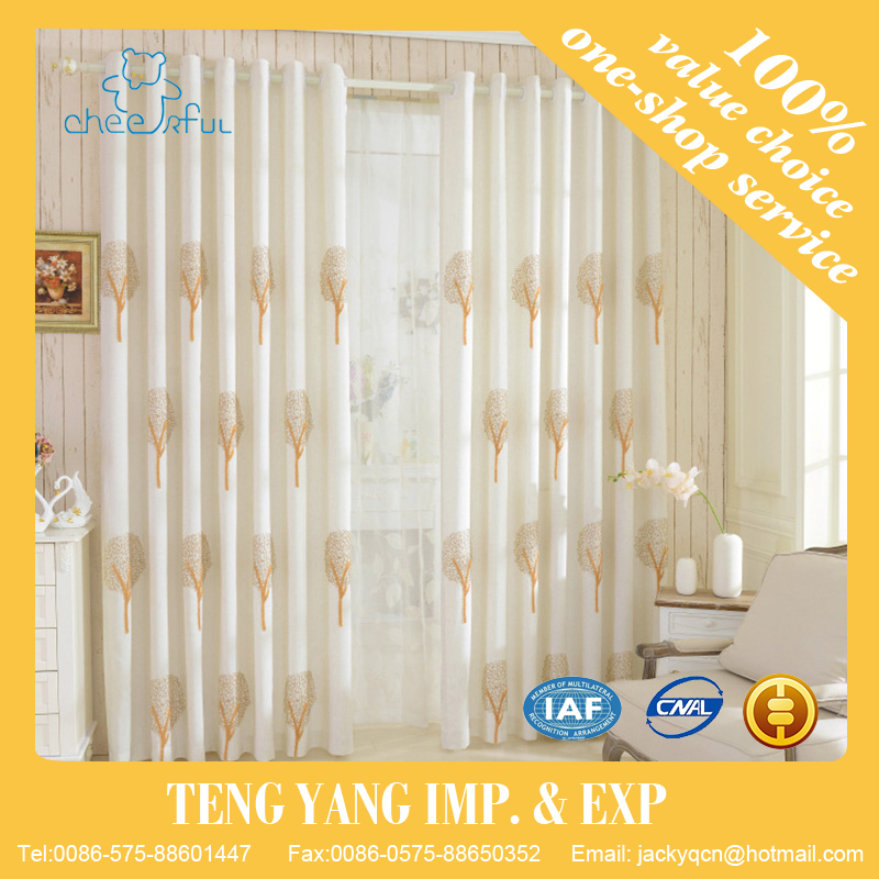 Modern floral print curtains and drapery living room curtains draps white blackout curtains designs