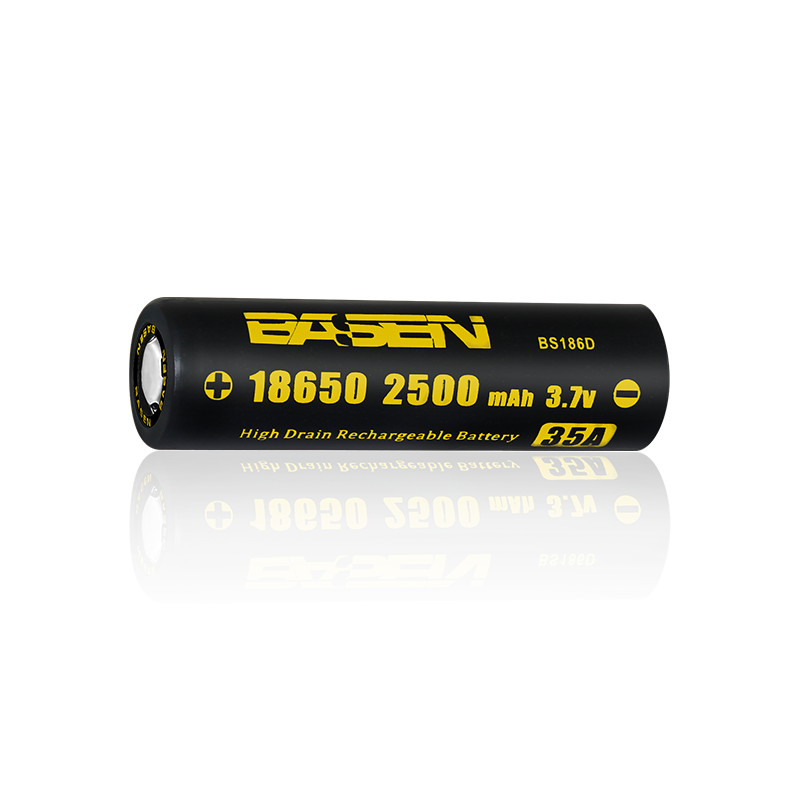 3.7v 2500mah 35a Basen 18650 li-ion battery 35a high drain battery alibaba gold supplier