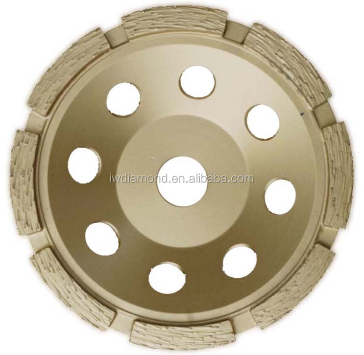 100mm 150mm 180 Single Row Diamond Cup Wheels Smoothing concrete and masonry surface