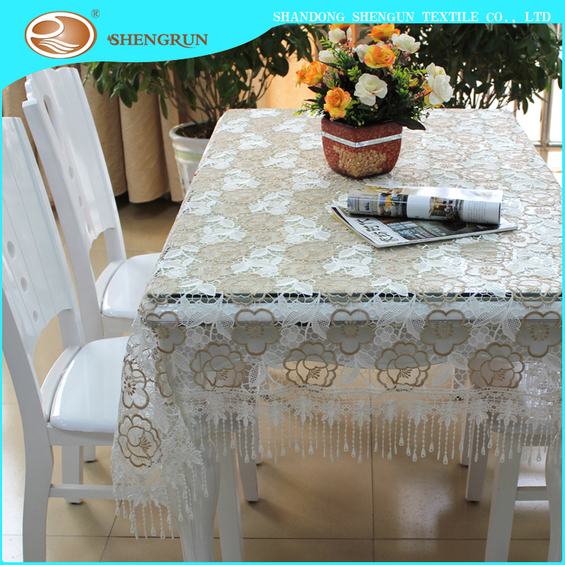Hot design embroidery tablecloth hometextile table cloth