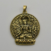 Chinese religious jewelry antique bronze buddhist goddess of mercy charms pendants