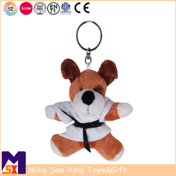 Promo gifts manufacturer custom soft plush teddy bear keychain