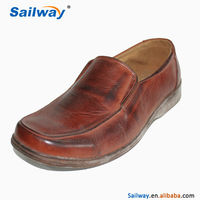 China made cheap plain men low top dress shoes
