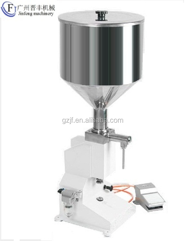 <strong>A02</strong> Pneumatic small dose 5-50ml liquid/cream filling machine