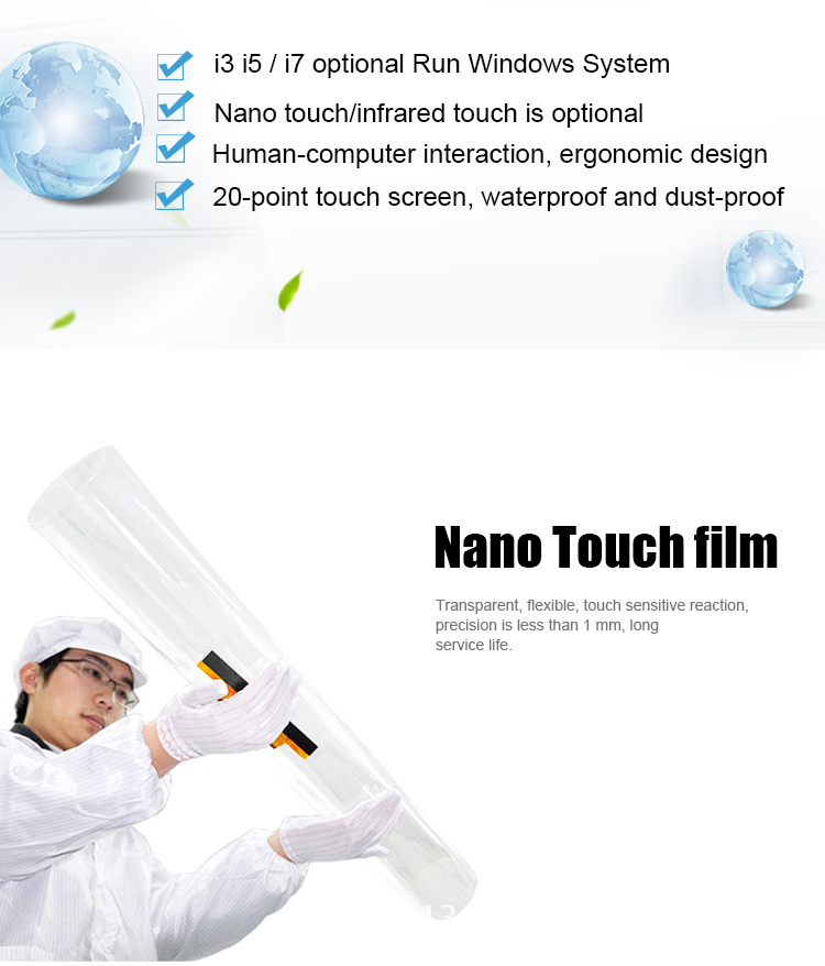 Waterproof Nano Touch table ultra hd 4k player Waterproof Nano Touch 700cd/m2 Sunlight Reable