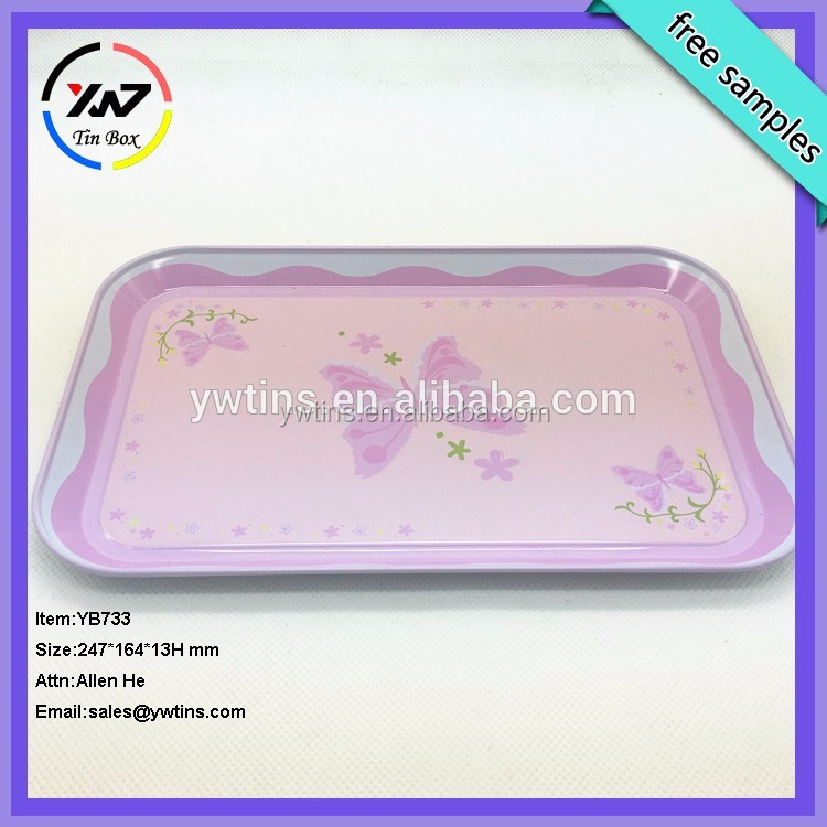 Food-grade Rectangle Serving Trays Metal Trays Tin Trays Plates Tin Cans