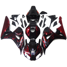 Injection Fairings For Honda CBR 1000 RR 06 07 2006 2007 ABS Plastic Complete Motorcycle Fairing Kit Body Kit Black Red Flames
